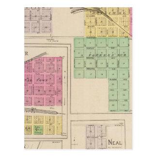 Reece, Fall River, Hamilton, and Climax, Kansas Postcard