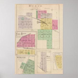 Reece, Fall River, Hamilton, y clímax, Kansas Posters