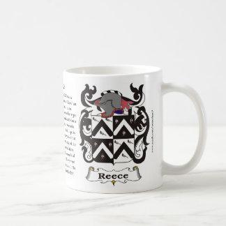 Reece Family Coat of Arms Mug
