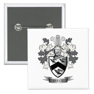 Reece Family Crest Coat of Arms Button
