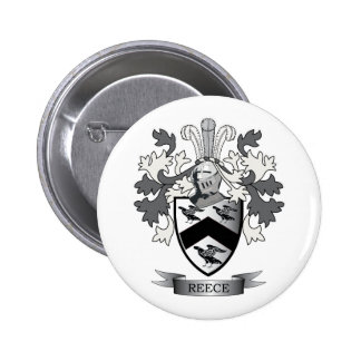 Reece Family Crest Coat of Arms Pinback Button
