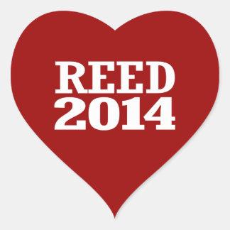 REED 2014 HEART STICKER