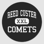 Reed Custer - Comets - High - Braidwood Illinois Round Stickers