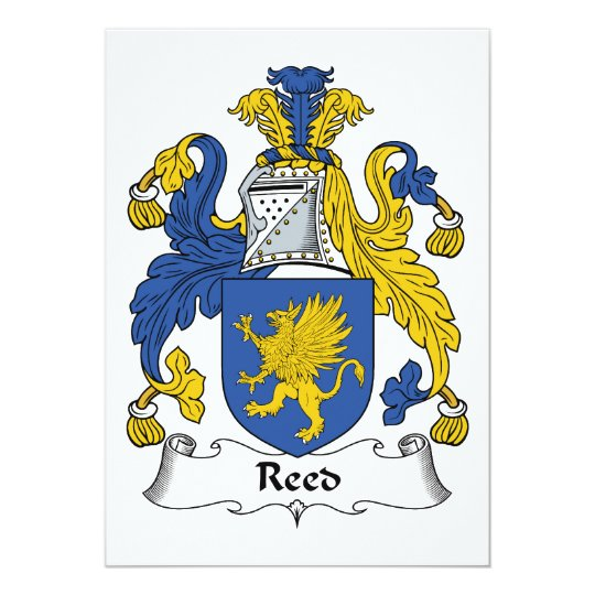 Reed Family Crest Card