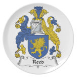 Reed Family Crest Party Plates