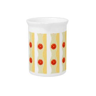 Reed Flowers Design Decorativ Pattern Beverage Pitchers