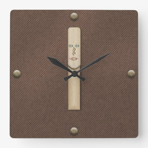 Reed for Clarinet Saxophone or Oboe Musician Square Wall Clock