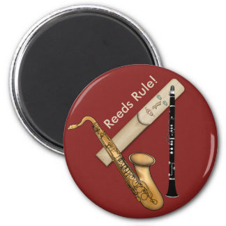 Reed Instruments Rule for Sax and Clarinet 2 Inch Round Magnet