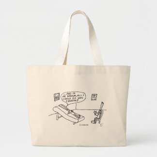 Reed Psychologist White Large Tote Bag