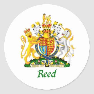 Reed Shield of Great Britain Classic Round Sticker