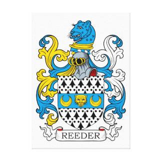 Reeder Family Crest Canvas Print