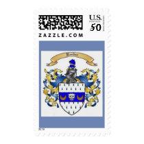 Reeder Family Crest Heraldry Postage Stamps
