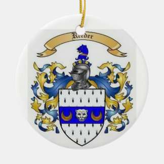 Reeder Heraldry Family Crest Ceramic Ornament