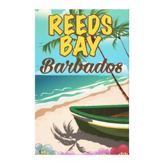 Reeds Bay Barbados vacation poster Canvas Print