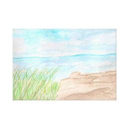 Reeds Beach Canvas Print