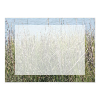 Reeds grass and water 5x7 paper invitation card