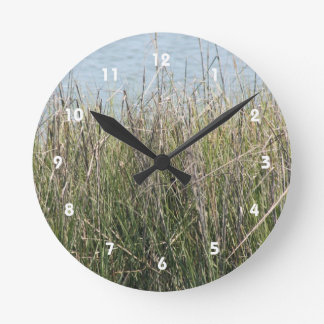 Reeds grass and water clock