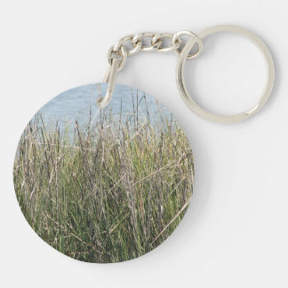 Reeds grass and water keychain
