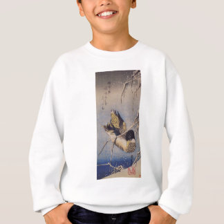 Reeds in the Snow with a Wild Duck by Hiroshige Sweatshirt