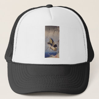 Reeds in the Snow with a Wild Duck by Hiroshige Trucker Hat
