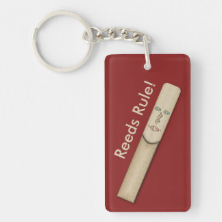 Reeds Rule for Sax and Clarinet Musicians Keychain