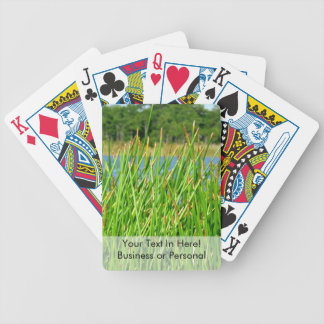 Reeds trees pond background bicycle playing cards