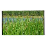 Reeds trees pond background iPad folio cover