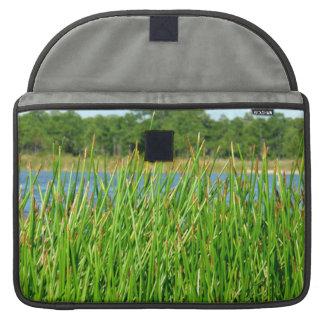 Reeds trees pond background MacBook pro sleeve