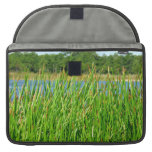 Reeds trees pond background sleeves for MacBooks