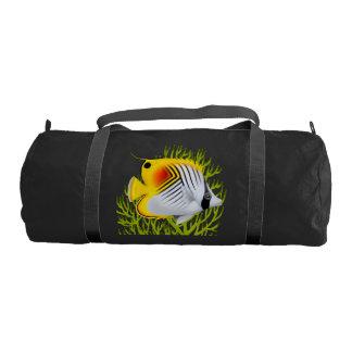 Reef Auriga Threadfin Butterfly Fish Duffle Bag Gym Duffel Bag