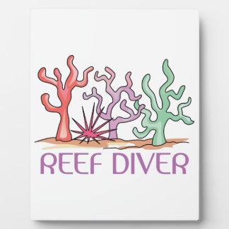 Reef Diver Display Plaque