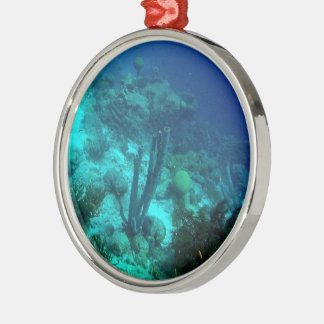 Reef Edge Round Metal Christmas Ornament