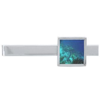 Reef Edge Silver Finish Tie Clip