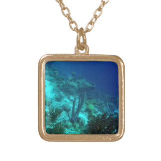 Reef Edge Square Pendant Necklace