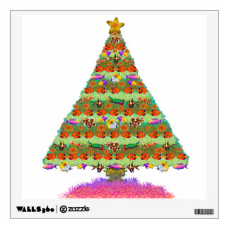 Reef Fish Christmas Tree Wall Decal