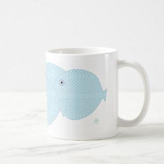 Reef fish classic white coffee mug