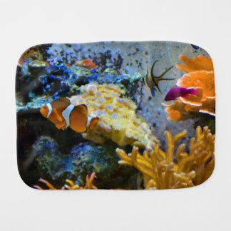 reef fish coral ocean burp cloth