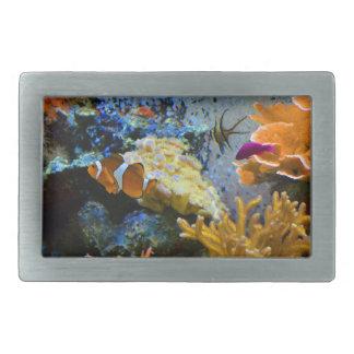 reef fish coral ocean rectangular belt buckle
