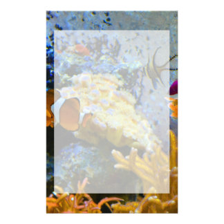 reef fish coral ocean stationery