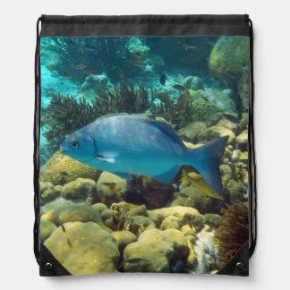 Reef Fish Drawstring Bag