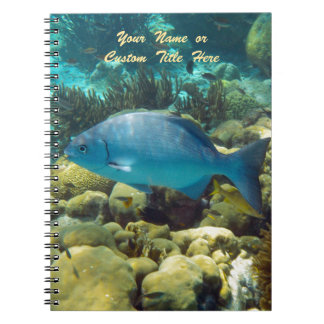 Reef Fish Personalized Spiral Notebook