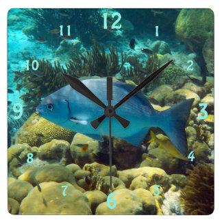 Reef Fish Square Wall Clock