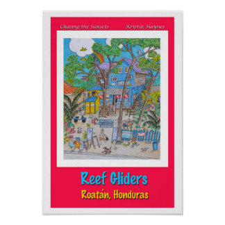 Reef Gliders Dive shop Poster