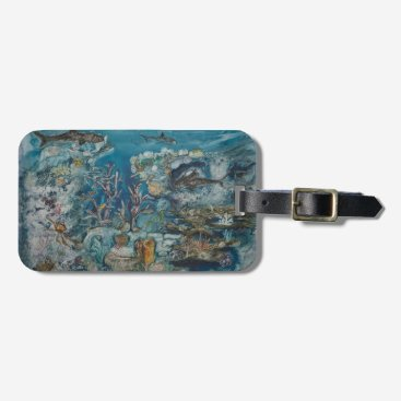Professional Business Reef Luggage Tag with Business Card Slot