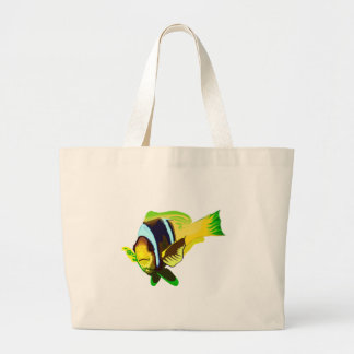 Reef Marine Life: Clark's Anemonefish Canvas Bags