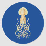Reef Octopus Classic Round Sticker