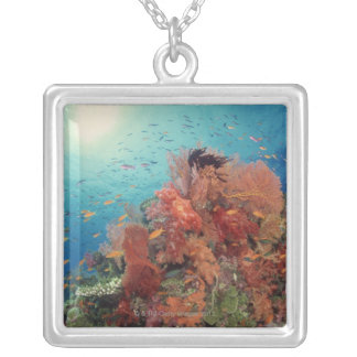 Reef scenic of hard corals , soft corals 2 personalized necklace