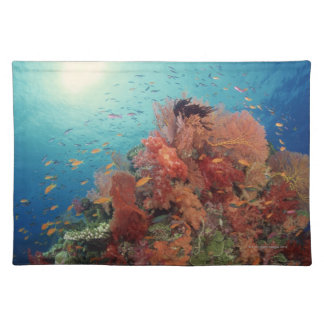 Reef scenic of hard corals , soft corals 2 cloth placemat