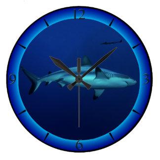 Reef Shark Great Barrier Reef Coral Sea Large Clock