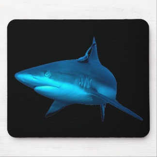 Reef Shark Mousepad - Black Background